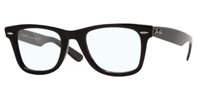 Ray Ban Ray-Ban Kunststoff Brille Original Wayfarer RX 5121 2000 Gr.50 in der Farbe black