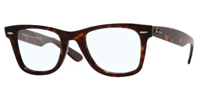 Ray Ban Kunststoff Brille Original Wayfarer RX 5121 2012 Gr.47 in der Farbe dark havanna