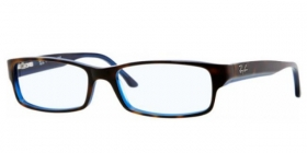 Brillenbild Ray-Ban Kunststoff Brille RX 5114 5064 Gr.52 in der Farbe top havanna on blue