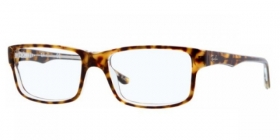 Brillenbild Ray-Ban Brille RX 5245 5082 Gr��e 52/17 Farbe top havana on transparent / havana, transparent