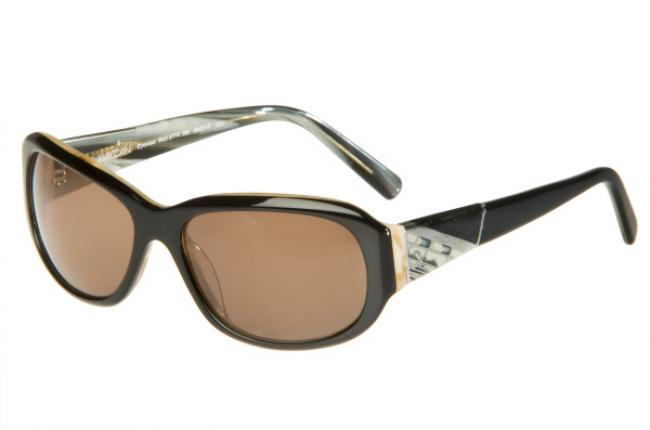 Marc Cain Sonnenbrille 8774 DB aus Kunststoff Gr.56 in der Farbe dunkelbraun VCnJsTowo