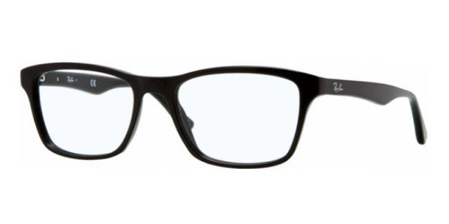 Ray-Ban Kunststoff Brille RX 5279 2000 Größe 53/18 in der Farbe shiny