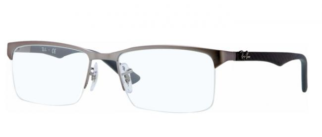 RAY BAN RAY-BAN Herren Brille » RX8411«, grau, 2714 - grau