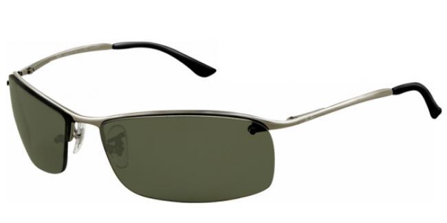 Ray-Ban Sonnenbrille RB 3183 004/9A Gr.63 gunmetal / polarisierend grün I6R19p3
