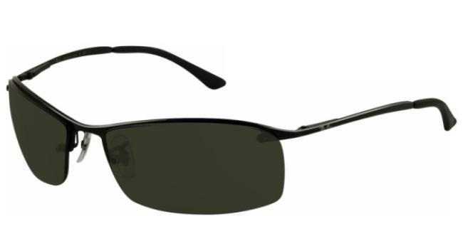Ray-Ban Sonnenbrille RB 3183 006/71 Gr.63 matte black / green K4I80m7