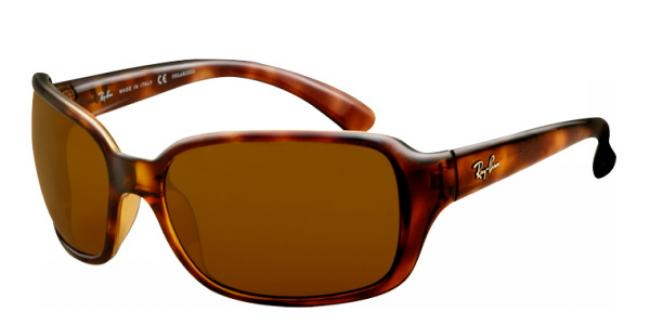 Ray-Ban Sonnenbrille RB 4068 642/57 in der Farbe havanna / crystal brown polarized THDLl2b9A