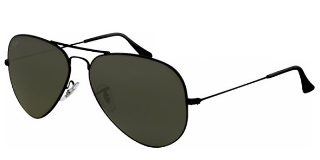 ray ban aviator gläser schwarz