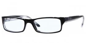 Ray-Ban Kunststoff Brille RX 5114 2097 Gr.52 in der Farbe schwarz mit weißen Rand 2prdNyW7