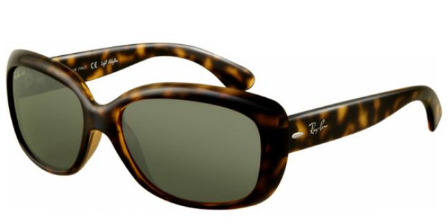 Ray-Ban Sonnenbrille Jackie Ohh RB 4101 710 in der Farbe light havanna / crystal green comYSKxSXP