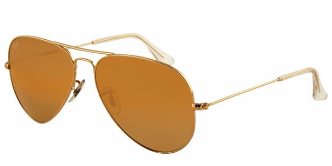 Ray-Ban Sonnenbrille Aviator Large Metal RB 3025 001/57 Gr.58 in der Farbe arista / gold Pol 33zRH5