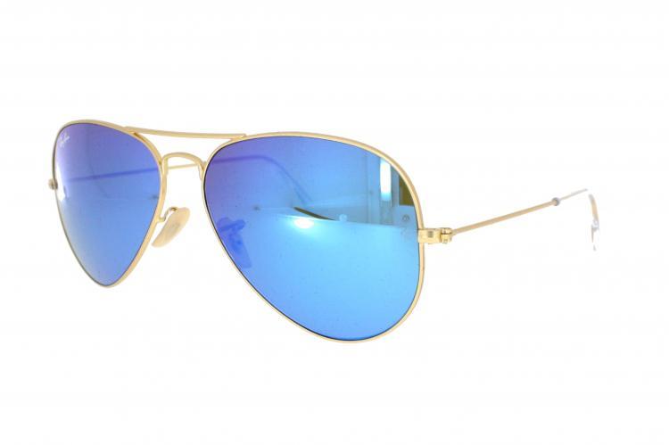 ray ban aviator blauw glas