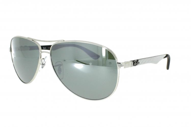 ... Ray-Ban Carbon Sonnenbrille 8313 003/40 Gr.58 in der Farbe silver ...