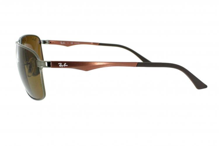 Ray-Ban Sonnenbrille RB 3506 132/83 Gr.64 in der Farbe gunmetal / dunkelsilber Pol. Wax0vyhXLU