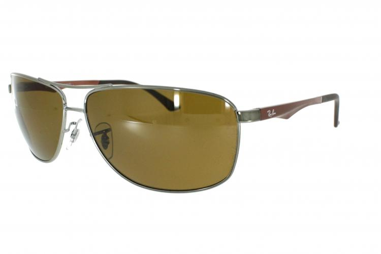 Ray-Ban Sonnenbrille RB 3506 132/83 Gr.64 in der Farbe gunmetal / dunkelsilber Pol. VqYdm
