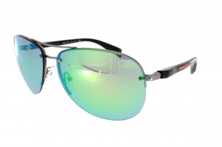 13fd7bbc5bf7d ... Prada Sport Sonnenbrille PS 56MS 5AS1M2 in der Farbe pewter    dunkelsilber ...