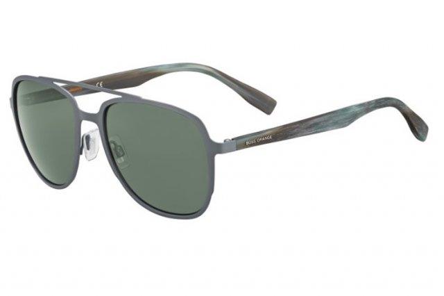 Boss Orange Herren Sonnenbrille » BO 0301/S«, grün, U1H/QT - grün/grün