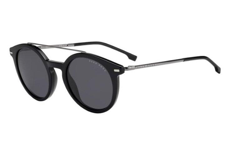 Boss Herren Sonnenbrille » BOSS 0929/S«, schwarz, 807/IR - schwarz/grau