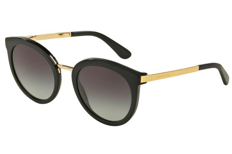DOLCE & GABBANA Dolce & Gabbana Damen Sonnenbrille » DG4268«, schwarz, 501/8G - schwarz/grau