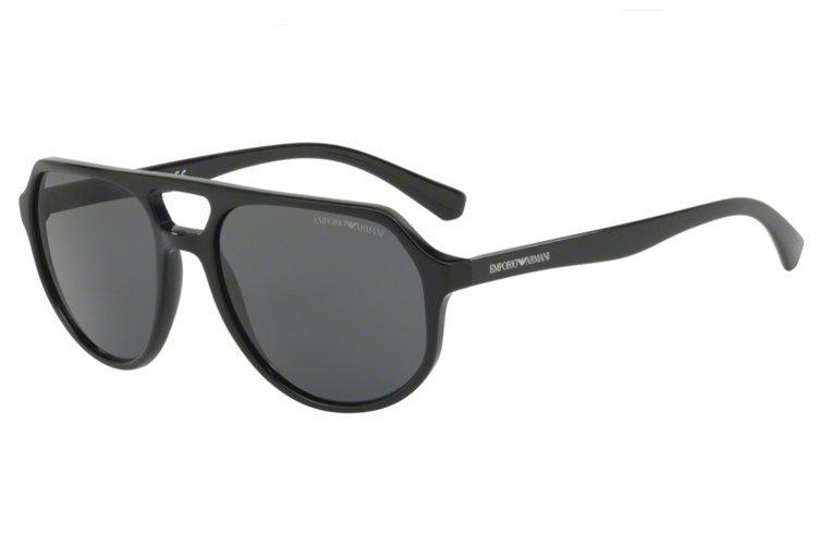 Emporio Armani Herren Sonnenbrille » EA4111«, schwarz, 500187 - schwarz/grau