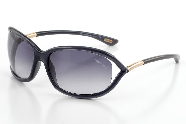 Tom Ford Damen Sonnenbrille »Jennifer FT0008«, grau, 0B5 - grau/grau