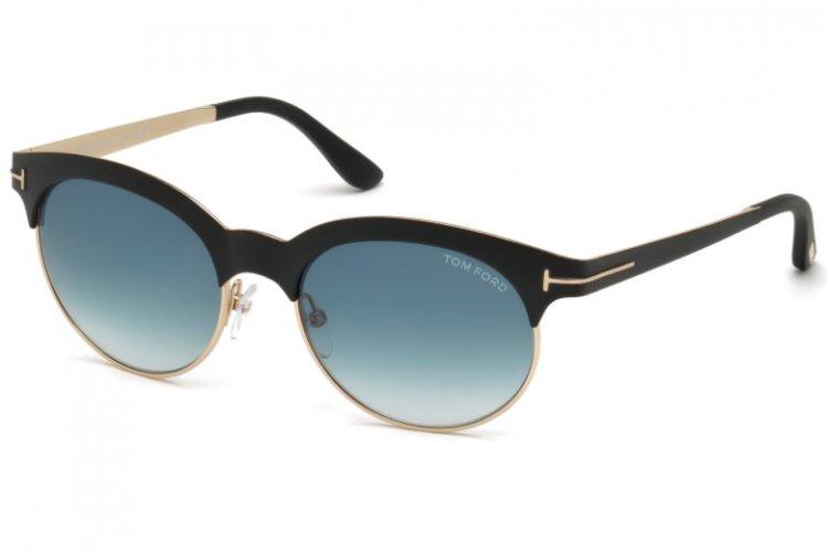 Tom Ford Damen Sonnenbrille »Angela FT0438«, schwarz, 05P - schwarz/grün