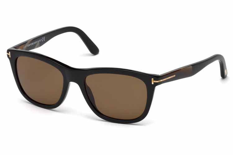 Tom Ford Herren Sonnenbrille »Andrew FT0500«, schwarz, 01H - schwarz/braun