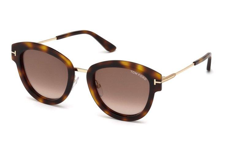 Tom Ford Damen Sonnenbrille » FT0574«, braun, 52G - braun/braun