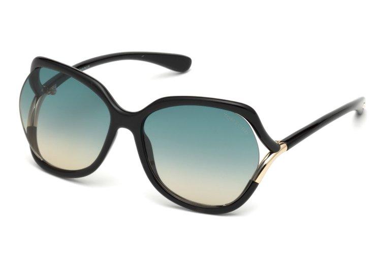 Tom Ford Damen Sonnenbrille » FT0578«, schwarz, 01W - schwarz/blau