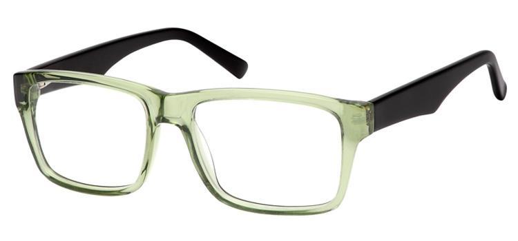 Brille Grün