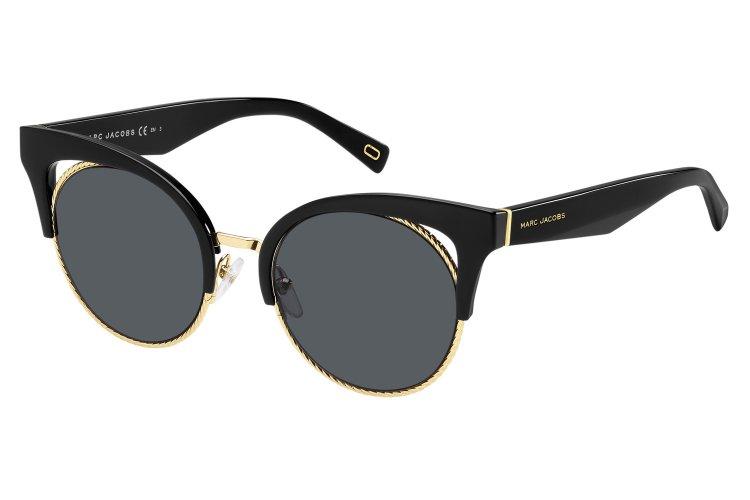 MARC JACOBS Marc Jacobs Damen Sonnenbrille » MARC 215/S«, schwarz, 807/IR - schwarz/grau