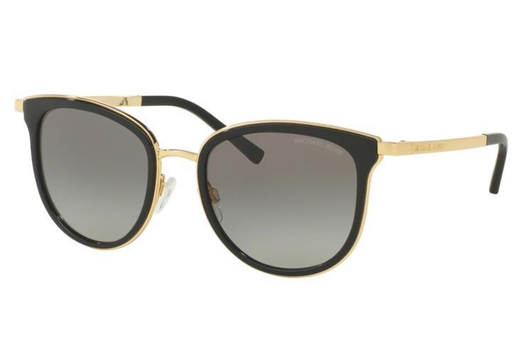 MICHAEL KORS Michael Kors Damen Sonnenbrille »ADRIANNA I MK1010«, schwarz, 110011 - schwarz/grau