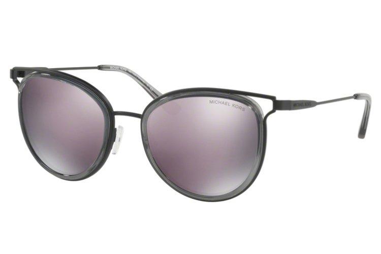 MICHAEL KORS Michael Kors Damen Sonnenbrille »HAVANA MK1025«, schwarz, 12025R - schwarz/lila