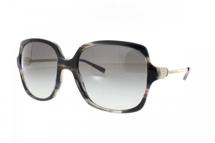 MICHAEL KORS Michael Kors Damen Sonnenbrille »BIA MK2053«, schwarz, 328911 - schwarz/grau