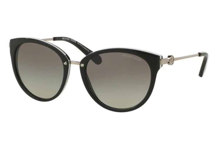 MICHAEL KORS Michael Kors Damen Sonnenbrille »ABELA III MK6040«, schwarz, 312911 - schwarz/grau