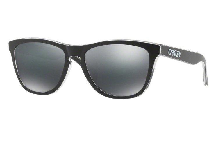 Oakley Herren Sonnenbrille Frogskins,Schwarz (Eclipse Clear/Black iridium), 55