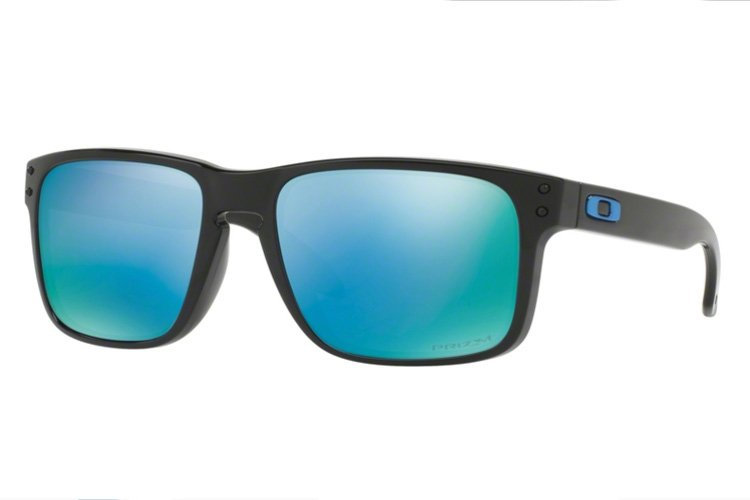 Oakley Herren Sonnenbrille »HOLBROOK OO9102«, schwarz, 9102C1 - schwarz/blau
