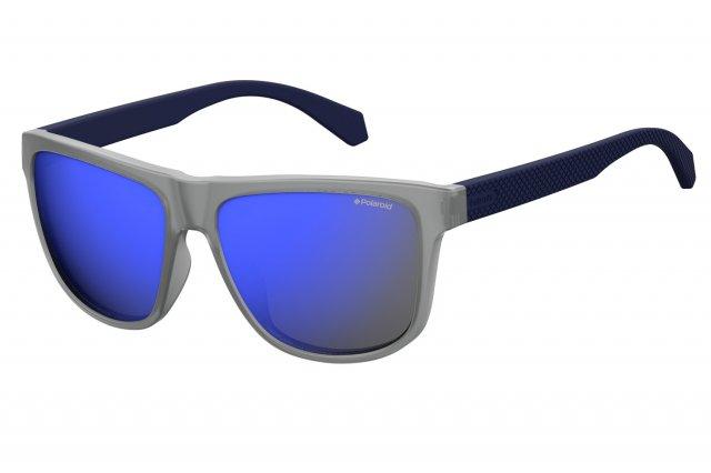 Polaroid Sonnenbrille » PLD 6035/F/S«, blau, PJP/M9 - blau/grau