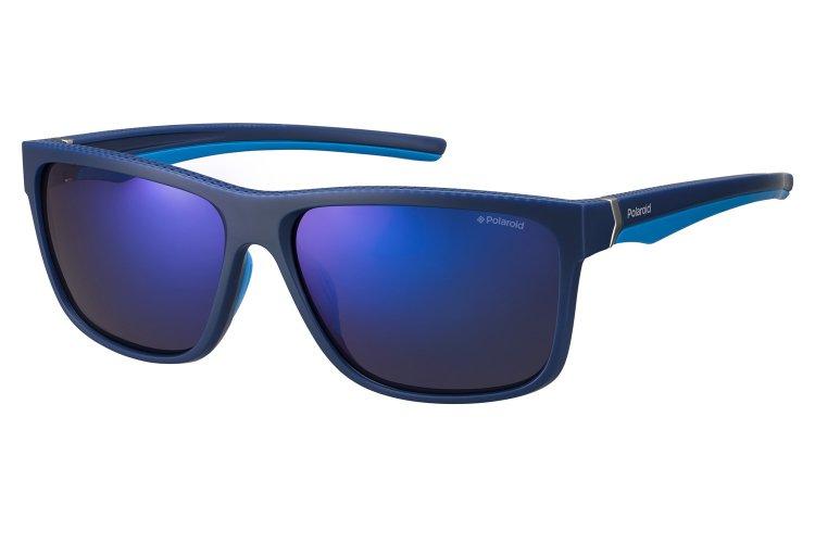 Polaroid Herren Sonnenbrille » PLD 7014/S«, blau, ZX9/5X - blau/blau