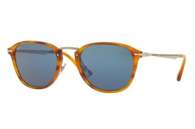Persol PO3165S Sonnenbrille Braun gestreift 960/56 52mm XJV2osS