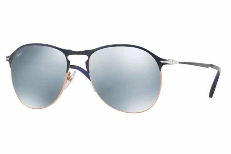 PERSOL Persol Herren Sonnenbrille » PO7649S«, blau, 107330 - blau/silber