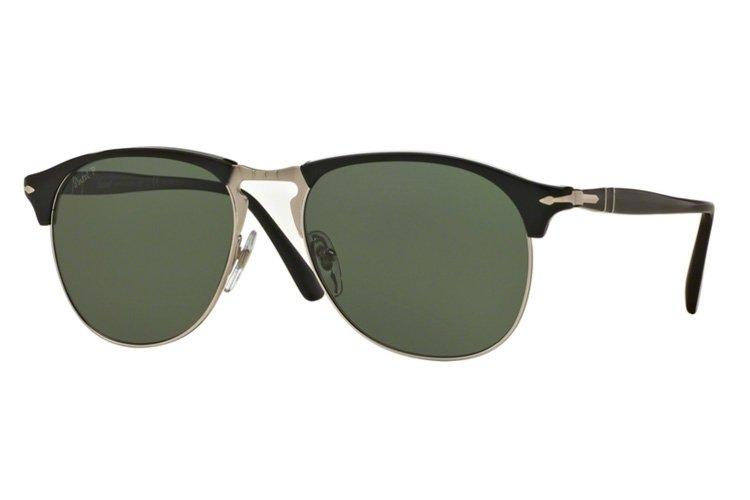 PERSOL Persol Herren Sonnenbrille » PO8649S«, schwarz, 95/58 - schwarz/grün