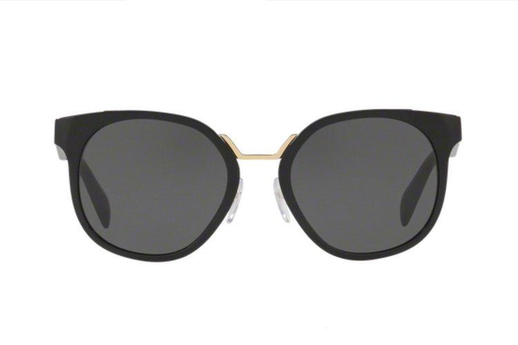 PRADA Prada Damen Sonnenbrille » PR 17TS«, schwarz, 1AB5S0 - schwarz/grau