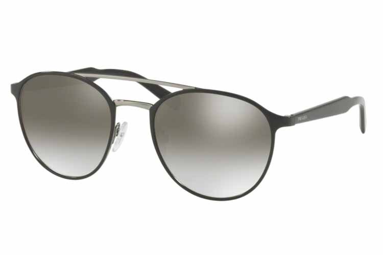 PRADA Prada Herren Sonnenbrille » PR 62TS«, schwarz, 1AB4S1 - schwarz/silber