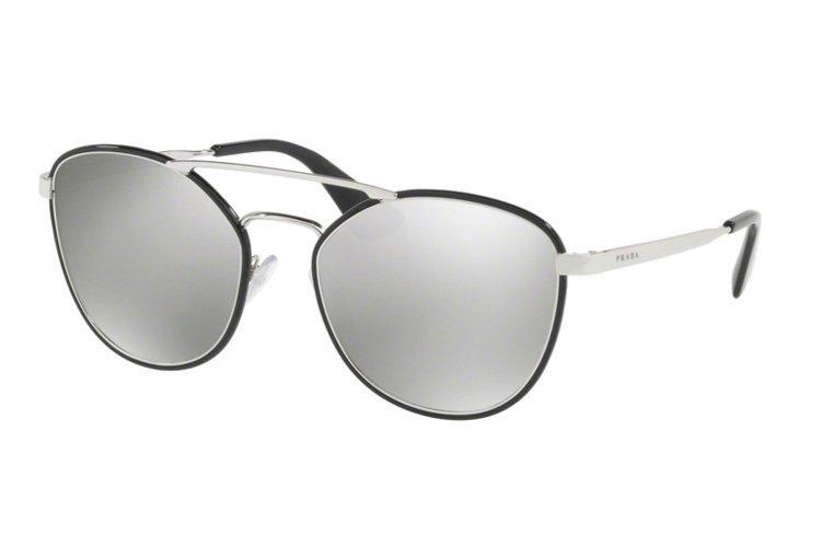 PRADA Prada Sonnenbrille » PR 63TS«, schwarz, 1AB2B0 - schwarz/silber