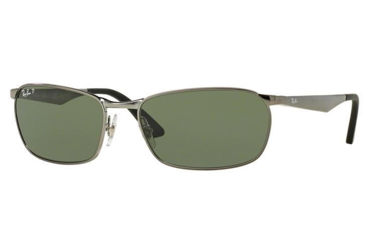 RAY BAN RAY-BAN Herren Sonnenbrille » RB3534«, grau, 004/58 - grau/grün