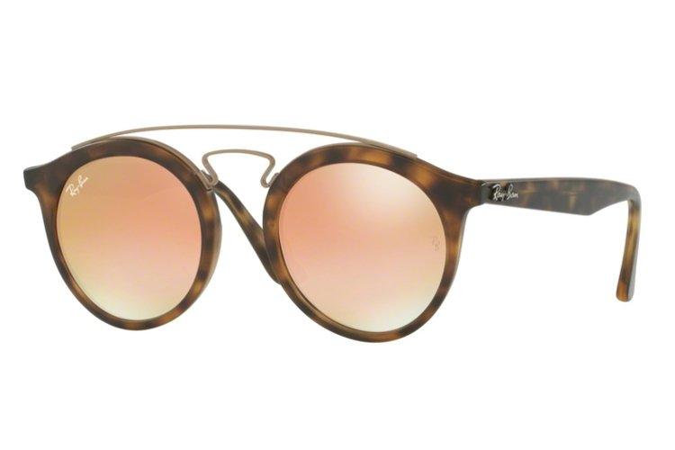 RAY BAN RAY-BAN Sonnenbrille »New Gatsby I RB4256«, braun, 6267B9 - braun/rosa