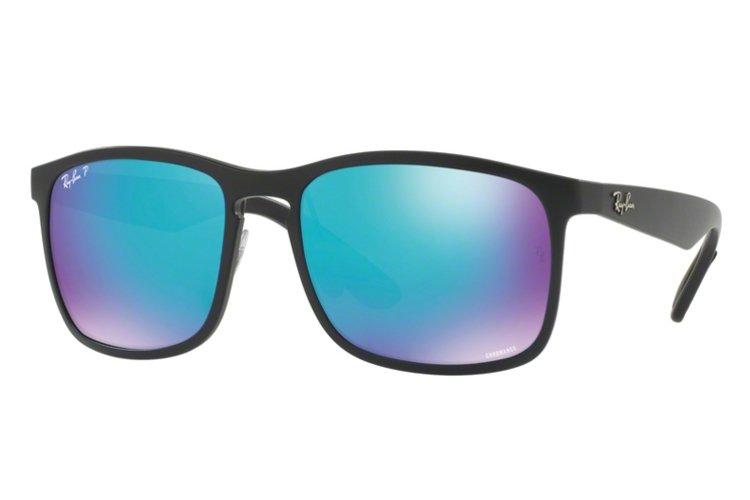 RAY BAN RAY-BAN Herren Sonnenbrille » RB4264«, schwarz, 601SA1 - schwarz/blau