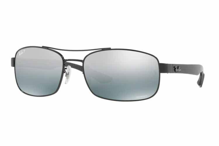 RAY BAN RAY-BAN Herren Sonnenbrille » RB8318CH«, schwarz, 002/5L - schwarz/grau