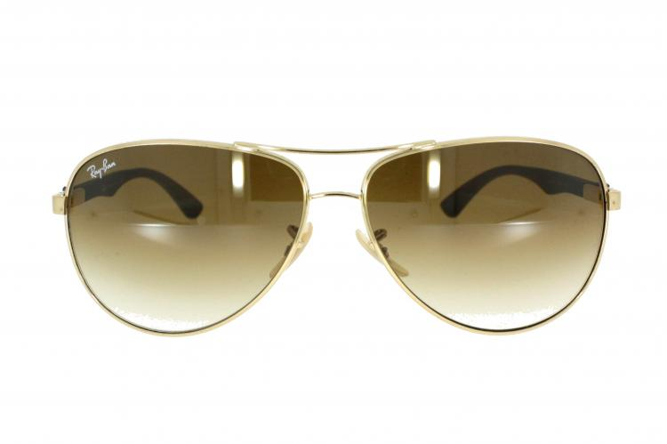 Ray-Ban Carbon Sonnenbrille 8313 001/51 Gr.61 in der Farbe gold UgL52