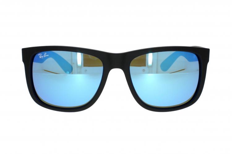 RAY BAN RAY-BAN Herren Sonnenbrille »JUSTIN RB4165«, schwarz, 622/55 - schwarz/blau